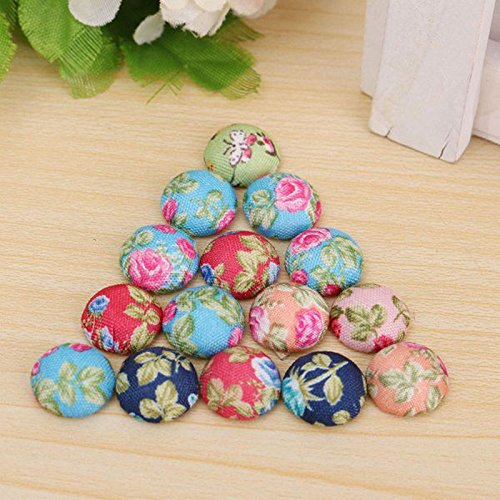 Buttons sewing buttons retro fabric flowers printing for Craft buttons for sale