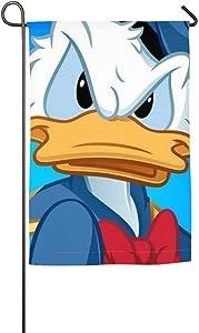 Pooizsdzzz Donald Duck (2) Garden Flag Home Outdoor/Indoor Yard Flag 12 X 18/18 X 27 in