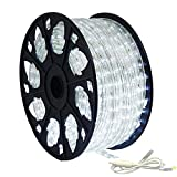 150' Outdoor Rated LED Rope Light Kit - 120V - UL Listed (Cool White, Standard Kit)
