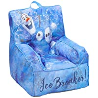 Frozen 2 Kids Nylon Bean Bag Chair with Piping & Top Carry Handle with Olaf Graphics