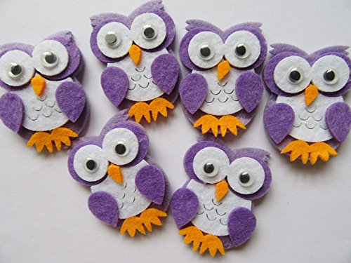 Pack of 20 Owl Felt Animals for Baby Shower Party Decoration Scrapbooking Craft Projects -