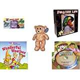 Children's Gift Bundle - Ages 6-12 [5 Piece] - 3 Pack of DVD Classic Game Shows - Pirate's Life Redbeard & Paully Puzzle 550 Piece - Animal Pals by Kuddle Me Toys Yellow Orange Flower Design Bear Pl