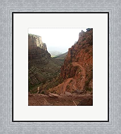 Amazon Grand Canyon Framed Art Print Wall Picture Flat Silver