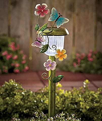 Decorative Solar Stakes (Butterfly) by GetSet2Save - Butterflies Outdoor Art
