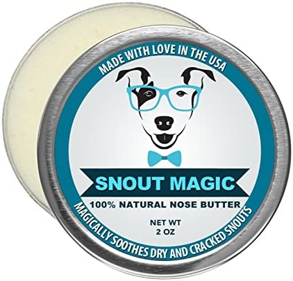 Snout Magic 100 Organic and Natural Dog Nose Butter 2oz – Proven to Cure Your Dog s Dry, Chapped, Cracked, and Crusty Nose