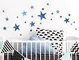 I-love-Wandtattoo WAS-10108 Wall stickers Kids ''Watercolor stars in blue'' Sticker Wall Decal Boy Girl