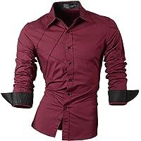 jeansian Men's Slim Fit Long Sleeves Shirt