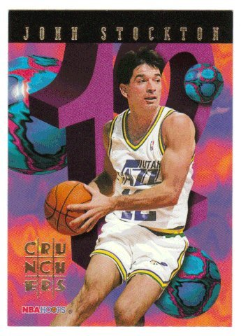 John Stockton (Basketball Card) 1995-96 Skybox Hoops Basketball Number Crunchers # - Number Stockton