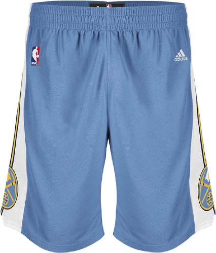 NBA Denver Nuggets Youth Boys 8-20 Replica Road Shorts, Large (14/16), Light ()