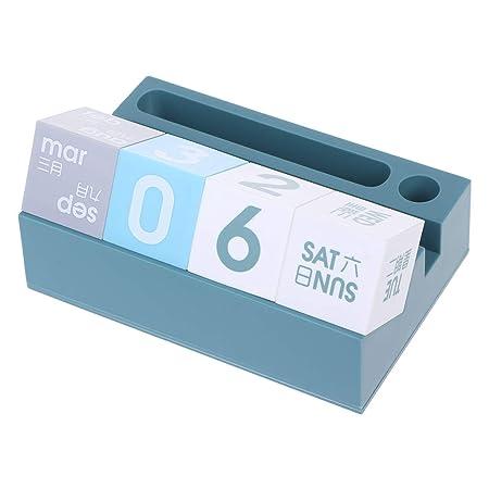 Calendario de mesa con soporte para teléfono y organizador de ...