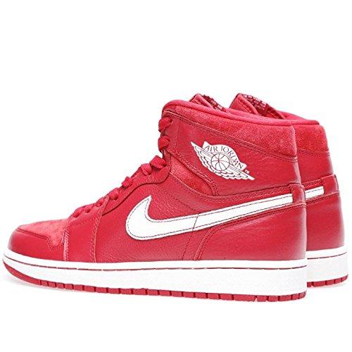 Nike Mens Air Jordan 1 Mid Basket Scarpa Da Ginnastica Rosso, Vela