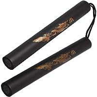 Asuthink Nunchakus de Cuerda para Artes Marciales, Nunchakus de gomaespuma Martial Art Sticks Espuma de Seguridad…