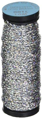 Thread Tapestry (Kreinik No.12 Metallic 10m Tapestry Craft Braid, 11-Yard, Solar Silver)