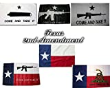 Wholesale Lot Texas 2nd Amendment Gift Set Texas Come and Take It, Texas, Gonzales, Texas Gadsden Don't Tread On Me, White Come and Take It, and Black Come and Take It 3'x5′ Polyester Flags For Sale