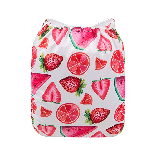 H-YK49 2 Inserts ALVABABY Baby New Printed Design Reuseable Washable Pocket Cloth Diaper Nappy