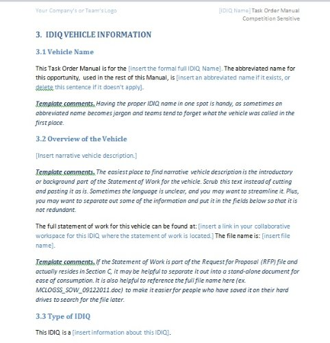 Task Order Manual Template Reusable Template Olessia Smotrova – Reference Manual Template