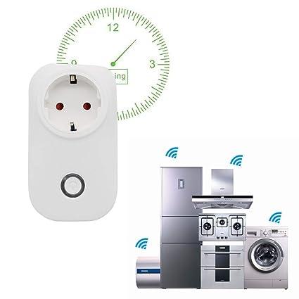 Surenhap Inteligente WiFi Enchufe Plug Funciona con Alexa Google Home, Control de Aplicaciones de iOS