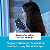 Crock-Pot Slow Cooker Works with Alexa 6-Quart