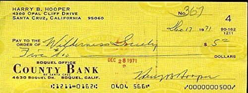 Harry Hooper 1971 Signed Autograph JSA Certified Certed Check Certified Autograph