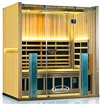 3 Person Sauna ClearLight Jacuzzi® Sanctuary 3 FS Full Spectrum Infrared  FAR Fused Carbon
