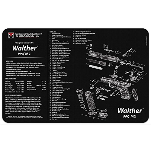 Ultimate Arms Gear WALTHER PPQ M2 Gunsmith & Armorer's Cleaning Work Tool Bench Pistol Handgun Gun Mat