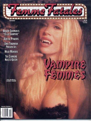Femme Fatales Magazine VAMPIRE FEMMES Tane McClure UMA THURMAN Tia Carrere VAMPIRELLA Cheesecake Photos PIN-UPS October 1997 (Queen Elizabeth Cheese)