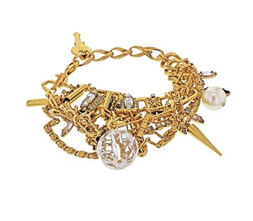 VICKISARGE Bracelet Plaqué Or Marquise Swarovski Cristal Transparent Femme