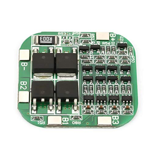 ZJchao Lithium Battery Charging Board with Protection Charger Module, 4S 16.8V 20A BMS Protection Board with Balancing for 18650 LiFePO4 Battery Pack BMS PCB Board Charger Module