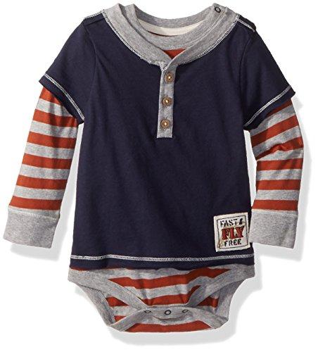 Burt's Bees Baby – Baby Boys Bodysuit, Short Sleeve and Long Sleeve One-Piece Bodysuits, 100% Organic Cotton