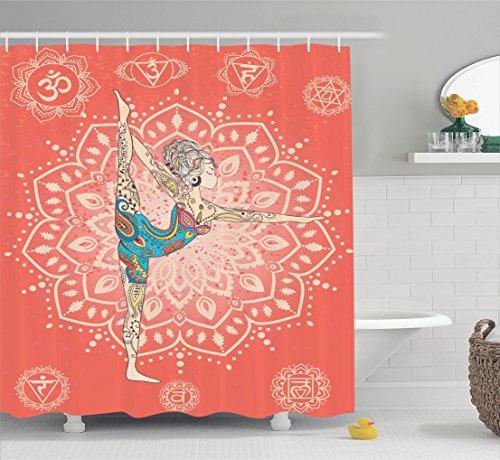 Ambesonne Yoga Decor Collection, Yoga Geometric Element Orna