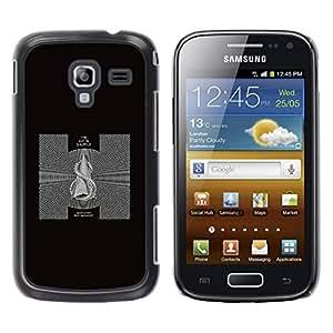 Caucho caso de Shell duro de la cubierta de accesorios de protección BY RAYDREAMMM - Samsung Galaxy Ace 2 I8160 Ace II X S7560M - Black & White Abstract