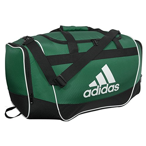 adidas Defender II Small Duffel Bag, Small, Collegiate Green/Black/White
