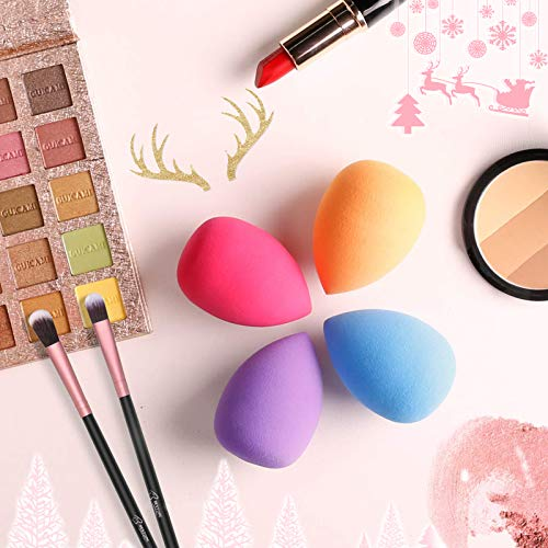 BESTOPE Makeup Brushes 16PCs Makeup Brushes Set with 4PCs Makeup Sponge and 1 Brush Cleaner Premium Synthetic Foundation Brushes Blending Face Powder Eye Shadows Make Up Brushes Tool