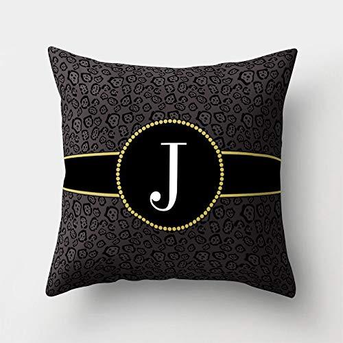 MODAO Clearance 2019!!!!! Pillow Case, English Alphabet Pillow Print Cushion Flower Pillowcase Cover Room Decoration, Polyester Material, 18x18 Inch (Best Side Sleeper Mattress 2019)