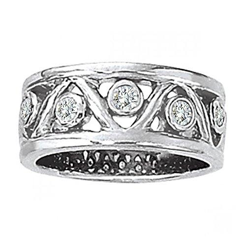 0.30 Carat G-H Diamond Fancy Tringle Design Promise Wedding Bridal Women Ring 14K White (0.30 Ct Marquise Diamond)