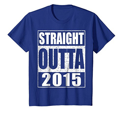 Kids Straight Outta 2015 T-Shirt Funny 3rd Birthday Gift Shirt