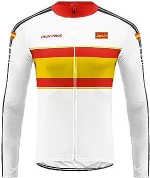 Uglyfrog Bike Wear Manga Larga Maillot Ciclismo Hombres,Newest Designs Maillots de Bicicleta Conjunto de Jersey de Manga Larga Top MTB Jersey: Amazon.es: Deportes y aire libre