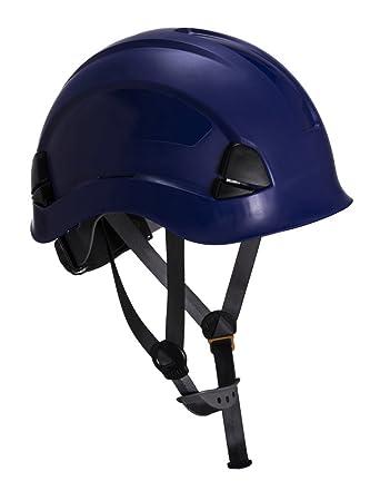 Workwear World ww335 altura resistencia andamios escalada steeplejack trabajo casco de seguridad duro sombrero con correa
