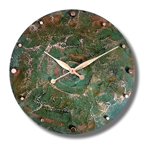 Oversized Copper Rustic Round Decorative Wall Clock
