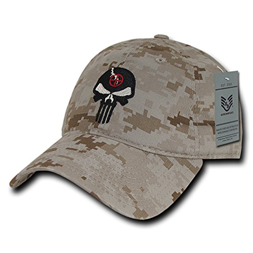 BHFC Desert Camo Camouflage Punisher Skull Military Navy Seal Special Forces Relaxed Polo Baseball Hat Cap