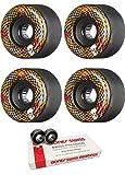 Powell-Peralta 69mm Snakes Skateboard Wheels with Bones Bearings - 8mm Bones Swiss Skateboard Bearings - Bundle of 2 items
