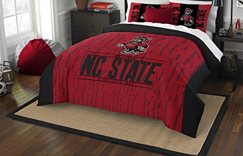 The Northwest Company Officially Licensed NCAA North Carolina State Wolfpack Modern Take Full/Queen Comforter and 2 Sham Set ()