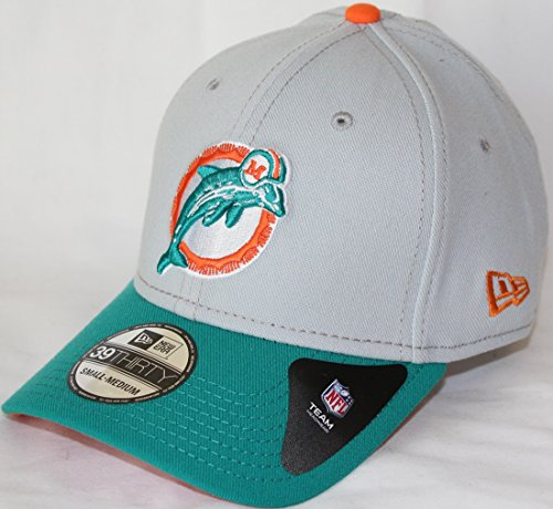 Miami Dolphins New Era NFL 39THIRTY Throwback Logo Gray Neo Flex Fit Hat