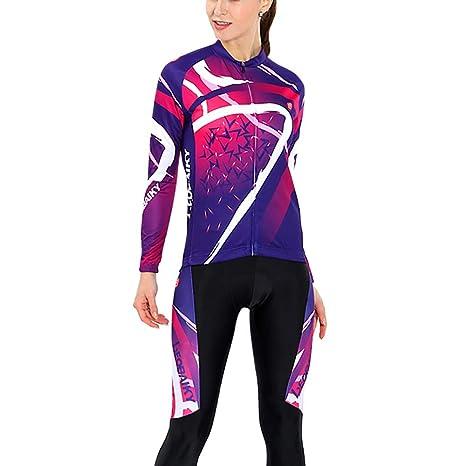 Traje de jersey de ciclismo para mujer Traje de manga larga ...