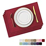 Home Brilliant Set of 4 Placemats for Christmas