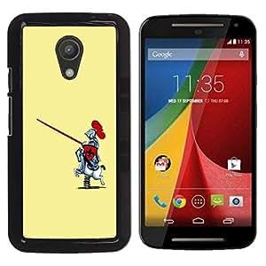 Be Good Phone Accessory // Dura Cáscara cubierta Protectora Caso Carcasa Funda de Protección para Motorola MOTO G 2ND GEN II // Funny Toy Horse Knight