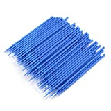 WENSY 100Pc Eyelash Extension Disposable Tattoo Makeup Brushes Cotton Swabs Stick with Plastic Handle Brushes Swab Lint