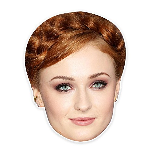 Unwelcome Greetings Serious Sophia Turner Mask, Perfect for Halloween, Masquerades, Parties, Festivals, Concerts - Jumbo Size (Sophie The First Costume)
