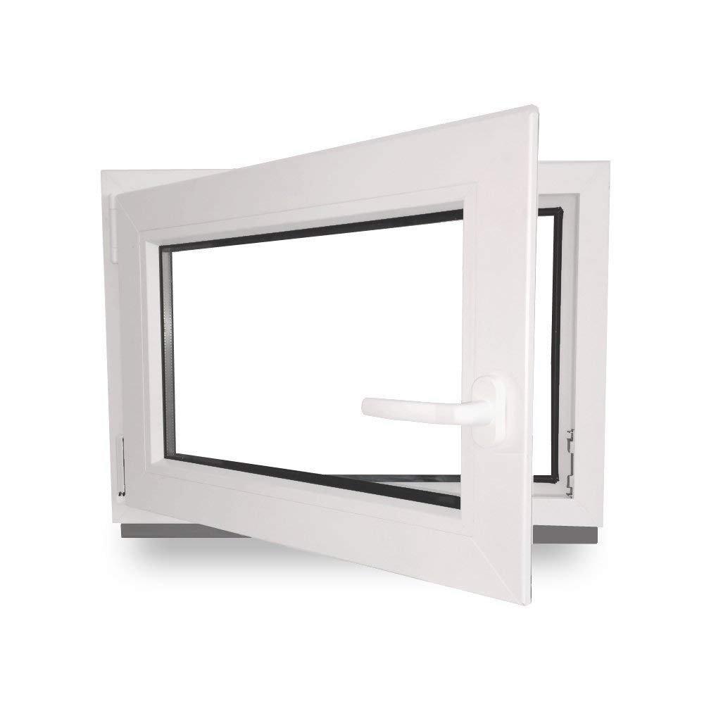 BxH: 800X650 mm DIN Links 3-Fach 60 mm Zwischengr/ö/ße Kunststofffenster
