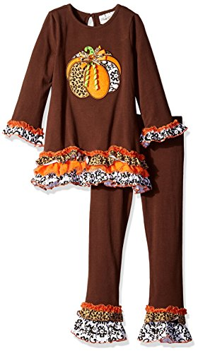 Rare Editions Pumpkin Applique Legging